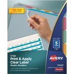 Avery Index Maker Translucent Clear Label Divider AVE11452
