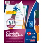 Avery Ready Index Translucent Table Of Content Dividers AVE11816