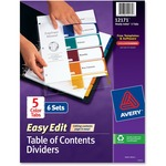 Avery Easy Edit Index Divider AVE12171