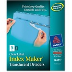 Avery Index Maker Easy Apply Clear Label Divider AVE12451