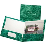 Oxford Marble Laminated Twin Pocket Folders ESS51617