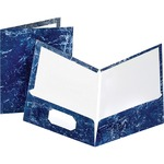 Oxford Marble Laminated Twin Pocket Folders ESS51643