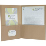 Earthwise Oxford 100% Recycled Paper Twin Pocket Folders ESS78542