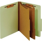 Globe-Weis Letter Classification Folder With Divider GLWPU61GRE-BULK