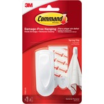Command Spring Clip with Adhesive Strips MMM17005