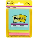 Post-it&reg Electric Glow 3x3 Super Sticky Notes (3321-SSAN)
