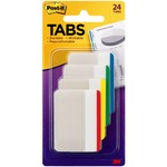 Post-it Tabs, 2 Inch Lined, Assorted Primary Colors, 6/Color, 4 Colors, 24/Pk MMM686F1