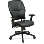 Office Star Space 2900 Leather Managerial Mid-Back Chair OSP2900