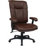 Office Star EX9382 Deluxe Executive High Back Leather Chair OSPEX93824