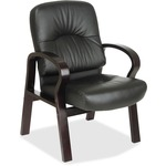 Office Star WD5335 Leather Visitors Chair OSPWD53353