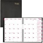 Rediform Hard Cover Twin-Wire Monthly Planner REDCB1262CBLK