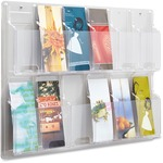 Safco 12 Pamphlet Pocket Display Rack SAF5604CL