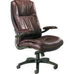 Mayline Ultimo Leather High-Back Chair MLNULEXBUR