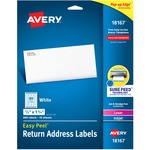 buy avery laser   inkjet return address labels - spend less - sku: ave18167