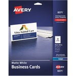 discounted pricing on avery matte inkjet business cards - excellent customer service staff - sku: ave8371