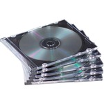 get fellowes thin cd dvd jewel cases - quick delivery - sku: fel98330