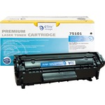 large supply of elite image remanufactured hp 12a laser toner cartridge - top rated customer care - sku: eli75101