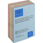 get sparco repositionable ruled pastel adhesive notes - discount prices - sku: spr19850