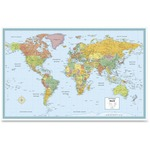 shop for rand mcnally deluxe laminated world wall map - awesome prices - sku: ran528959972