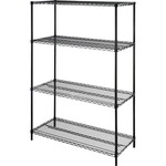 discounted pricing on lorell 4-tier wire rack w  shelves - fast  free delivery - sku: llr70061