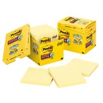 large supply of 3m post-it super sticky canary lined cabinet pak - quick and easy ordering - sku: mmm67512sscp