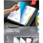 buying acco wilson jones view-tab transparent dividers - us-based customer service staff - sku: wlj55063