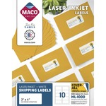 shop for maco multipurpose self-adhesive mailing labels - wide selection - sku: macml1000