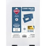 huge selection of maco multipurpose self-adhesive mailing labels - extensive selection - sku: macml1000b
