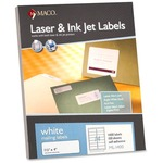 maco multipurpose self-adhesive mailing labels - sku: macml1400 - spend less
