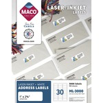 searching for maco multipurpose self-adhesive mailing labels  - outstanding customer care - sku: macml3000