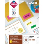 lower prices on maco round gold foil laser labels - save money - sku: macml7850