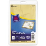 avery print or write gold notarial labels - sku: ave05868 - excellent customer care