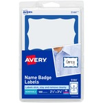 avery self-adhesive print   write name badges - top rated customer service staff - sku: ave5144