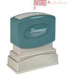 xstamper red ink entered title stamp - top notch customer care team - sku: xst1822