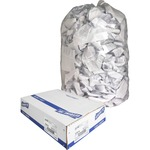 genuine joe clear flat bottom trash can liners - sku: gjo01014 - excellent selection