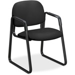 hon 4000 series ergonomic sled-base guest chairs - us-based customer support staff - sku: hon4008ab10t
