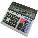 order sharp 12-dgt dual power desktop display calculator - top notch customer care team - sku: shrqs2130