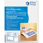 elite image white name badge labels - sku: eli26927 - toll-free customer service