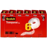 shopping online for 3m scotch glossy transparent tape  - reduced prices - sku: mmm6006pk