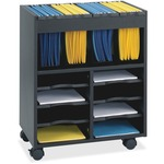 reduced prices on safco innovative mobile file cart w  storage - fast   free shipping - sku: saf5390bl