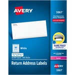 lowered prices on avery easy peel mailing laser labels - quick and free shipping - sku: ave5967