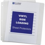 discounted pricing on c-line side-loading clear vinyl sheet protectors - fast shipping - sku: cli61313