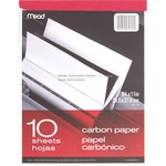 lowered prices on mead carbon paper tablet  - us-based customer support staff - sku: mea40112