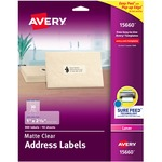 trying to buy some avery easy peel clear address mailing labels - awesome pricing - sku: ave15660
