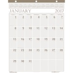 doolittle 3-hole punched classic wall calendar - professional customer care team - sku: hod380