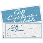 order adams two-part carbonless gift certificates - top rated customer care - sku: abfgftc1