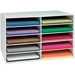 shop for pacon 10-shelf construction paper storage unit - super fast shipping - sku: pac001316