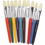 chenille kraft colored handle flat bristle brushes - outstanding customer support - sku: ckc5184