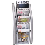 alba 5-pocket wall literature rack  - sku: abaddice5m - free and quick delivery