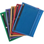 esselte 3-hole punch zipper binder pockets - sku: ess68500 - spend less